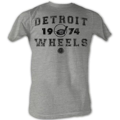 Image for World Football League Heather T-Shirt - Detroit Wheels