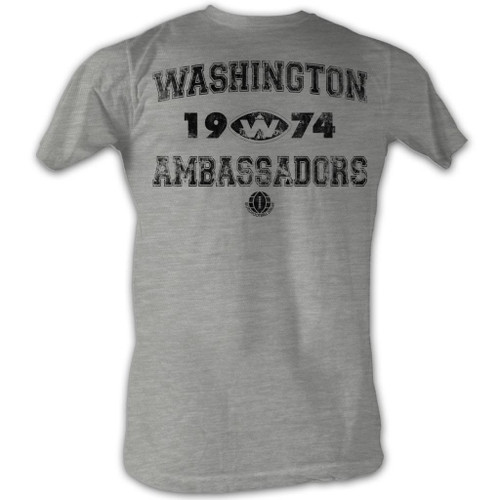Image for World Football League Heather T-Shirt - Washington Ambassadors 1974