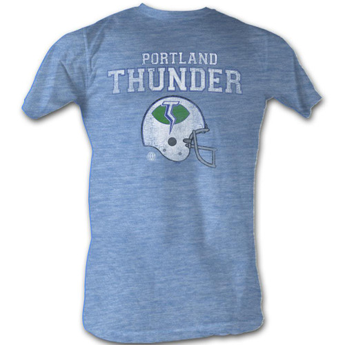 Image for World Football League Heather T-Shirt - Portland Thunder Helmet