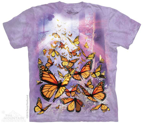 Image for The Mountain T-Shirt - Monarch Butterflies