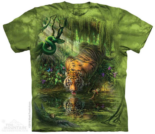 Image for The Mountain T-Shirt - Enchanted Tiger