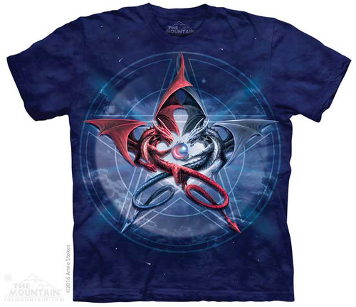 Image for The Mountain T-Shirt - Pentagram Dragons