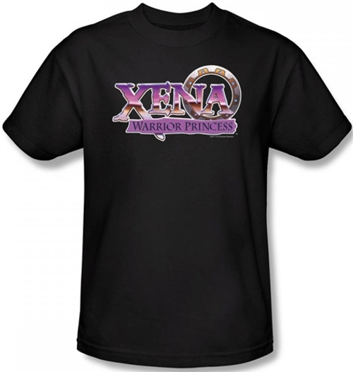 Image Closeup for Xena Warrior Princess Logo T-Shirt