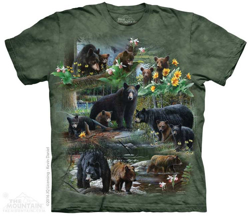Image for The Mountain T-Shirt - Bear Collage