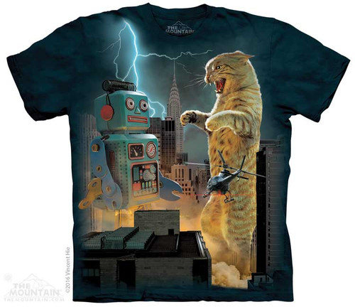 Image for The Mountain T-Shirt - Catzilla vs Robot