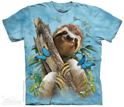 Image for The Mountain Youth T-Shirt - Sloth & Butterflies
