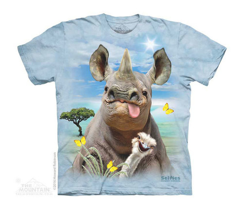Image for The Mountain Youth T-Shirt - Rhino Selfie