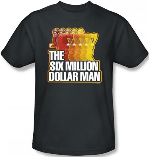 Image Closeup for Six Million Dollar Man Run Fast T-Shirt