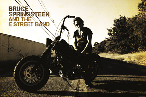Image for Bruce Springsteen Poster - Motorcycle