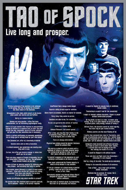 Image for Star Trek Poster - The Tao of Spock