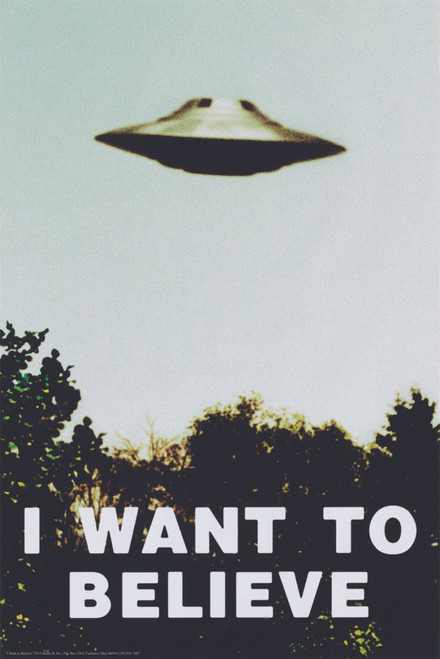 Image for X-Files Poster - I Want to Believe