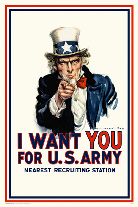 Image for Uncle Sam - I Want You Poster