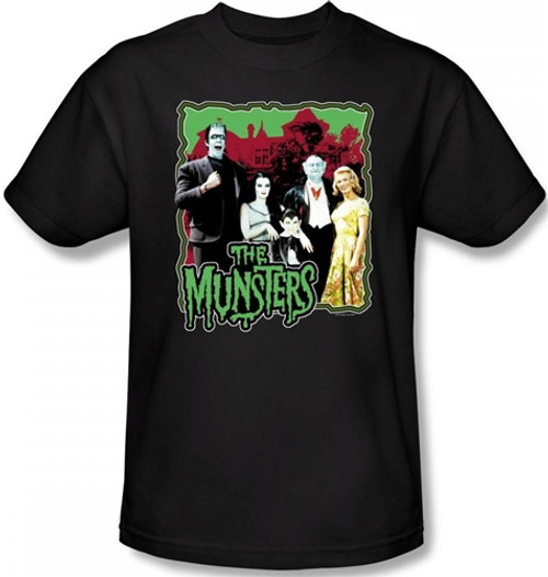 Image Closeup for The Munsters Normal Family T-Shirt