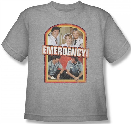 Image for Emergency! Retro Cast Youth T-Shirt