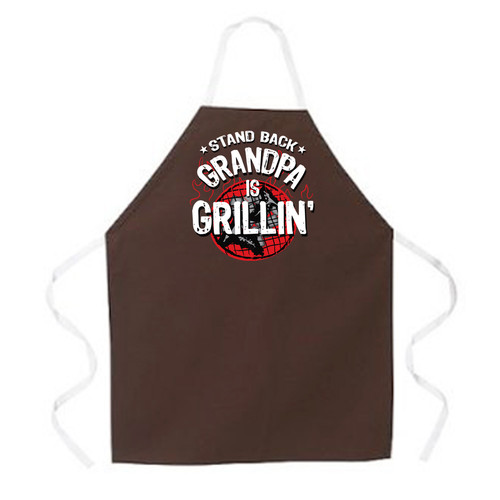 Image for Stand Back Grandpa is Grillin' Apron
