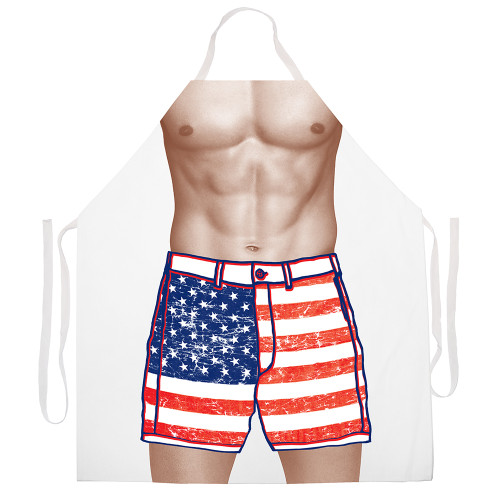 Image for American Flag Shorts Apron