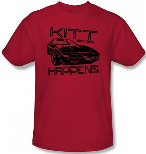 Image Closeup for Knight Rider KITT Happens T-Shirt