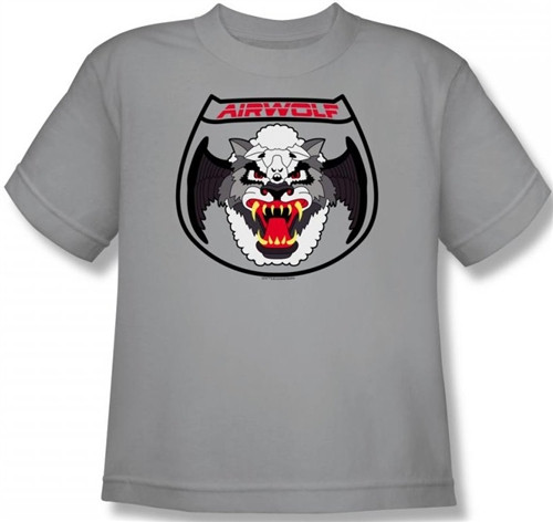 Image for Airwolf Patch Youth T-Shirt