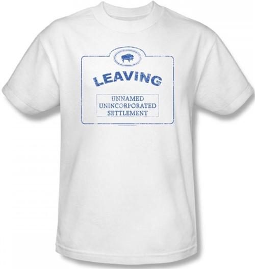 Image Closeup for Warehouse 13 Now Leaving Univille T-Shirt