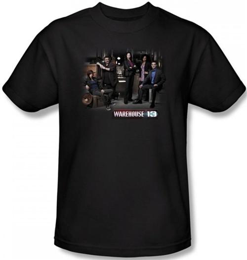 Image Closeup for Warehouse 13 Warehouse Cast T-Shirt