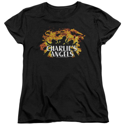 Image for Charlies Angels Womans T-Shirt - Fire