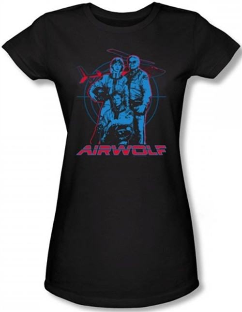Image for Airwolf Graphic Girls Shirt