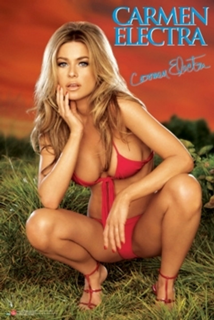 Image for Carmen Electra Poster - Red Bikini