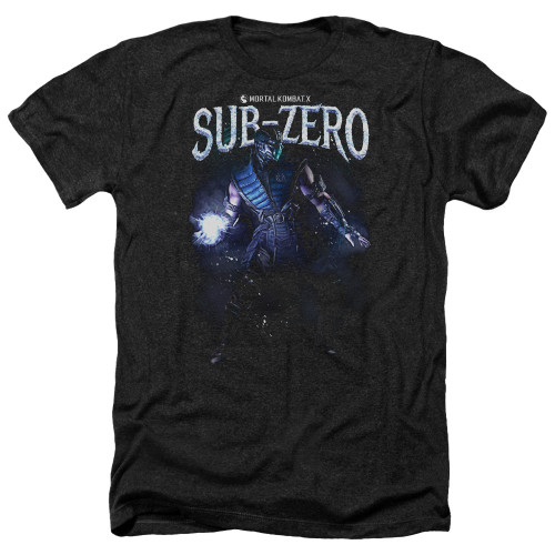 Image for Mortal Kombat Heather T-Shirt - Sub-Zero
