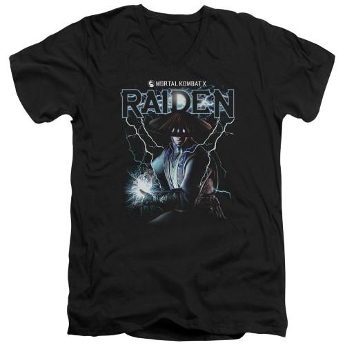 Image for Mortal Kombat V Neck T-Shirt - Raiden