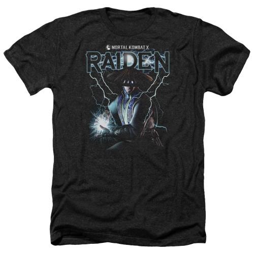 Image for Mortal Kombat Heather T-Shirt - Raiden