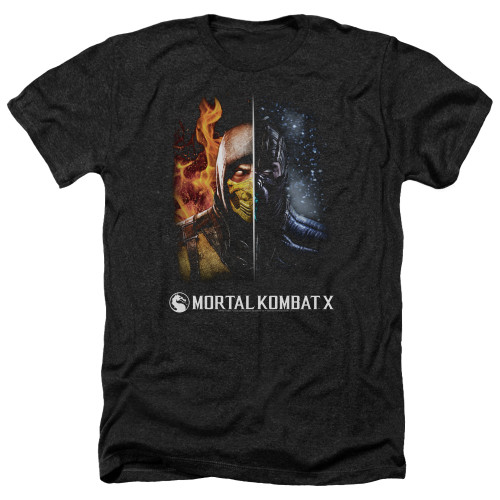 Image for Mortal Kombat Heather T-Shirt - Fire and Ice