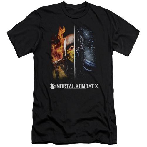 Image for Mortal Kombat Premium Canvas Premium Shirt - Fire and Ice