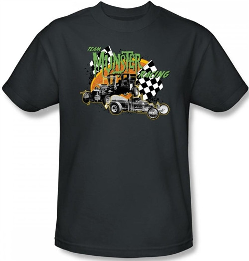 Image Closeup for The Munsters Team Munsters Racing T-Shirt