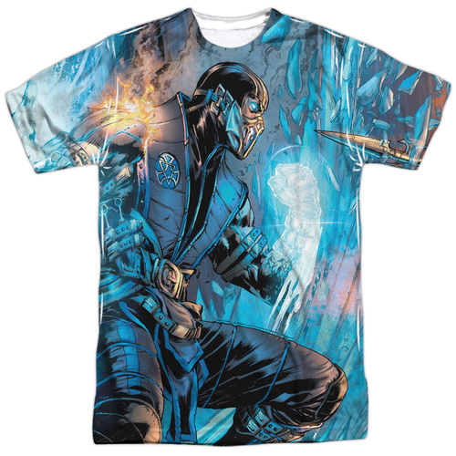 Image for Mortal Kombat Sublimated T-Shirt - Comic 100% Polyester