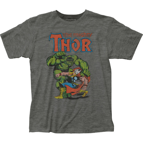 Image for Thor vs Hulk Heather T-Shirt
