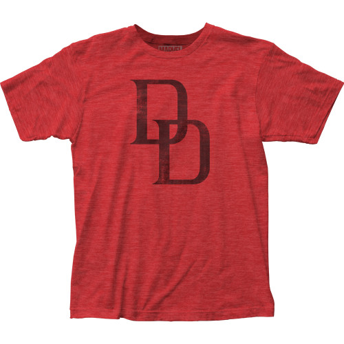 Image for Daredevil Heather T-Shirt - Distressed Logo