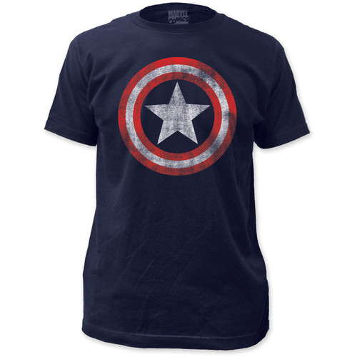 Image for Captain America T-Shirt - Distressed Classic Shield