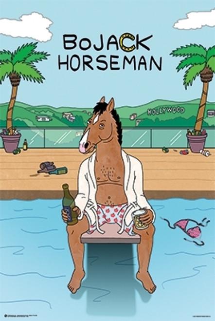 Image for Bojack Horseman Poster - Pool