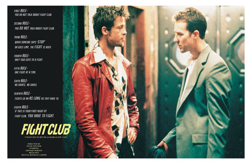 Image for Fight Club Poster - Tyler and Ed Rules