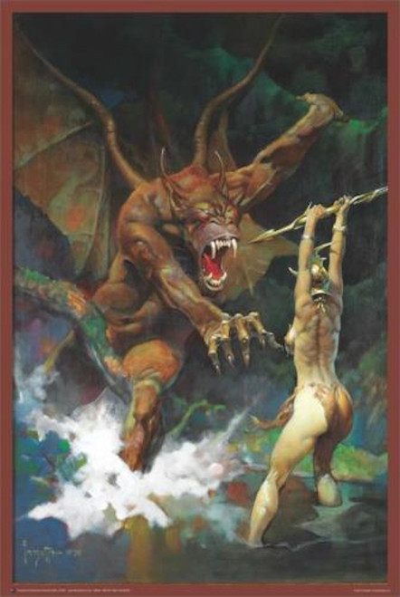 Image for Frazetta Poster - Beauty & the Beast