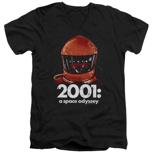 Image for 2001: A Space Odyssey V Neck T-Shirt - Space Travel