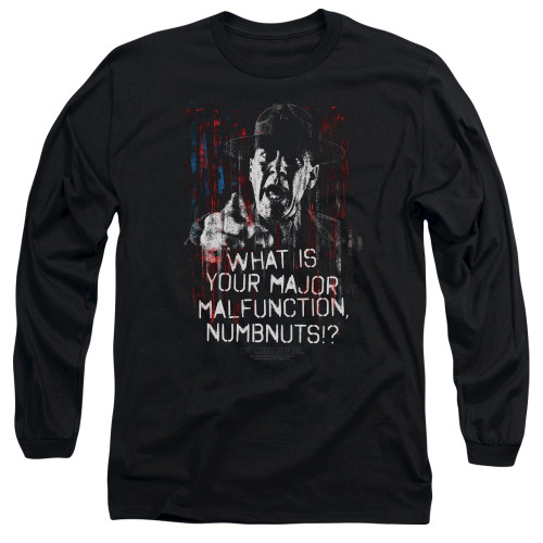 Image for Full Metal Jacket Long Sleeve Shirt - What is Your Majoy Malfunction Numbnuts?
