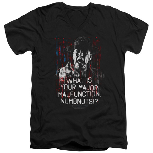 Image for Full Metal Jacket V Neck T-Shirt - What is Your Majoy Malfunction Numbnuts?
