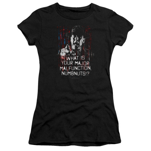Image for Full Metal Jacket Girls T-Shirt - What is Your Majoy Malfunction Numbnuts?