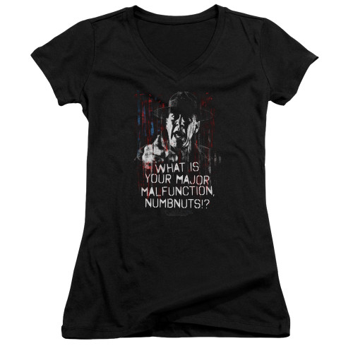 Image for Full Metal Jacket Girls V Neck - What is Your Majoy Malfunction Numbnuts?