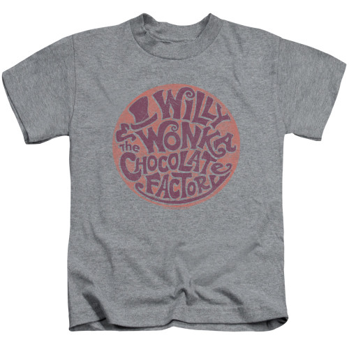 Image for Willy Wonka and the Chocolate Factory Circle Logo Kid's T-Shirt