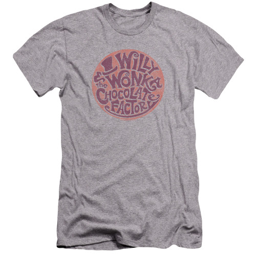 Image for Willy Wonka and the Chocolate Factory Premium Canvas Premium Shirt - Circle Logo