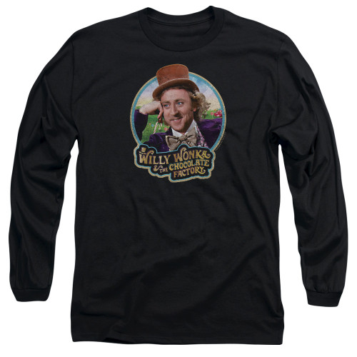 Image for Willy Wonka and the Chocolate Factory Long Sleeve Shirt - It's Scrumdiddlyumptious