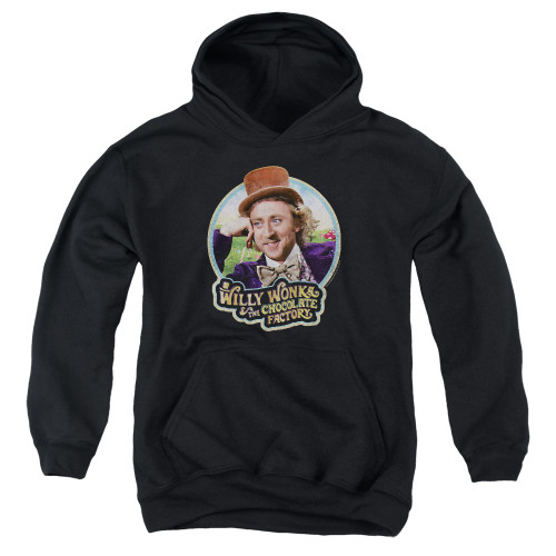 Image for Willy Wonka and the Chocolate Factory Youth Hoodie - It's Scrumdiddlyumptious