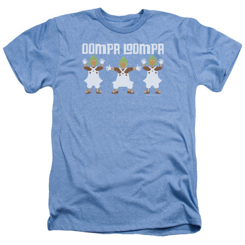 Image for Willy Wonka and the Chocolate Factory Heather T-Shirt - Oompa Loompa